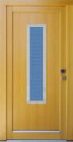 RITA - vchodové dveře z modřínu s nerez rámečky