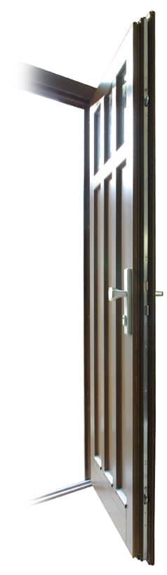 Vchodové dveře s bezpečnostním zámkem