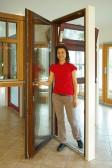 Balkonové dveře s nízkým prahem si můžete vyzkoušet ve vzorkovně Slavonice