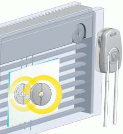 Ovladac s magnetem - integrovaná žaluzie Sreen Line
