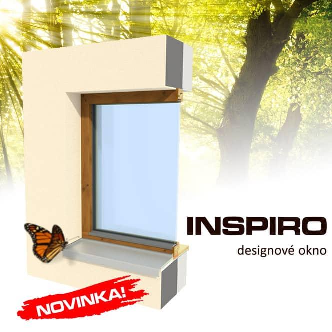 Dřevěné designové okno INSPIRO