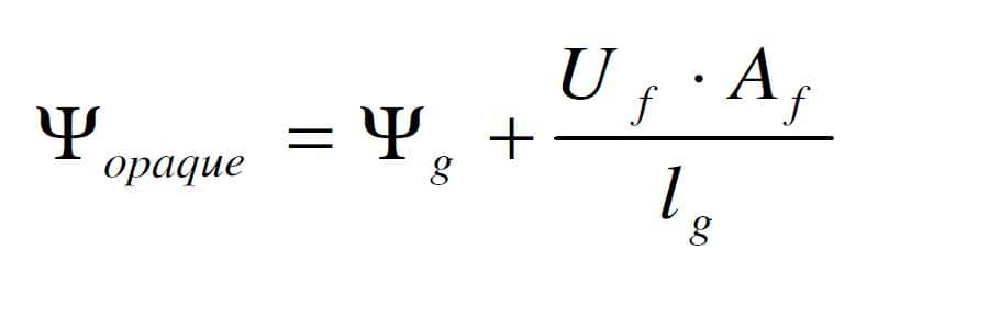 Rovnice 1 - vztah pro stanovení Ψ opaque