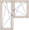 Balkonové dveře a jednokřídlé okno