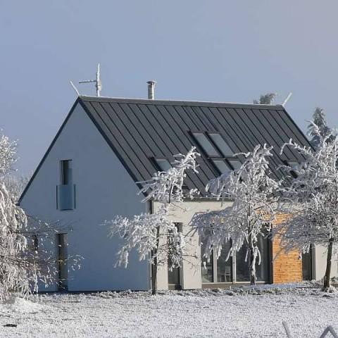 Dřevostavba s okny PROGRESSION