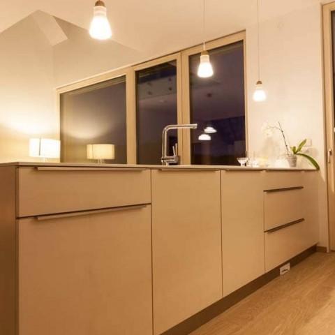 Interiér dřevostavby s okny PROGRESSION