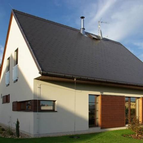 Pasivní dřevostavba s dřevěnými okna SC92