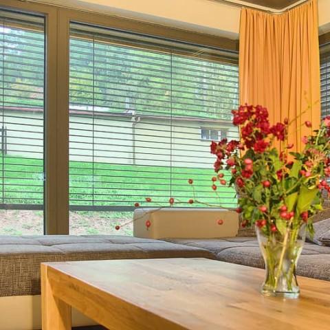 Obývací část domu prosvětlená okny PROGRESSION