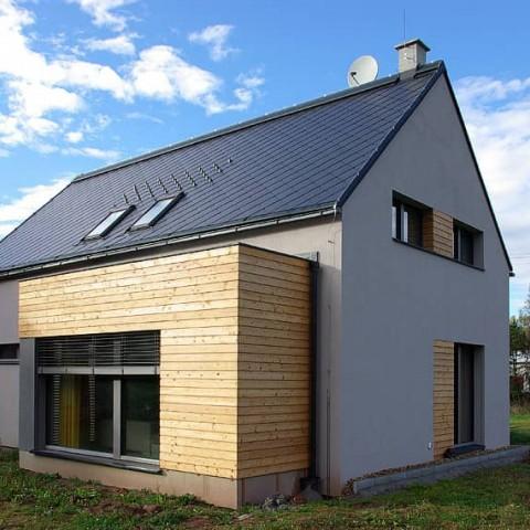 Zděný pasivní dům s okny PROGRESSION