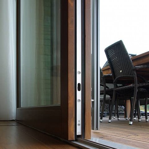 Zdvižně posuvné dveře - detail