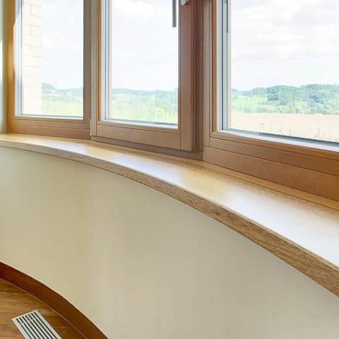 Dřevěné obloukové parapety